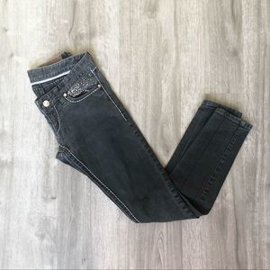 Express Skinny Jeans Weathered Black/Grey Size 4